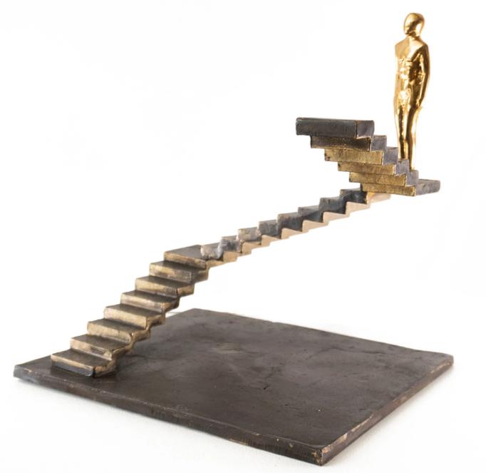 Escultura de bronce de Louisa Dimitriou